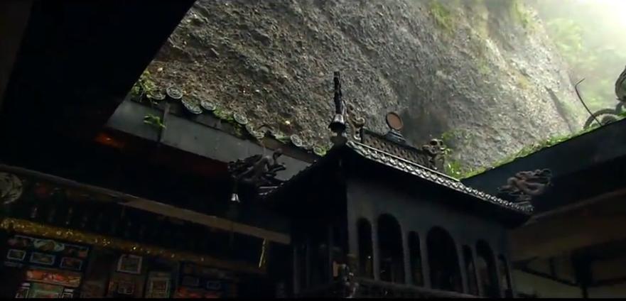 四川成都古建筑旅游观光景点 太极拳 道士做法 实拍高清视频素材