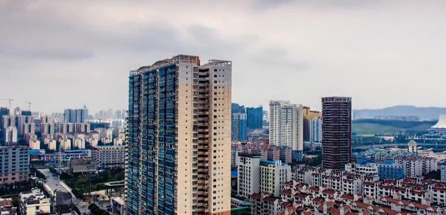 广西南宁 城市鸟瞰 俯瞰 延时拍摄 摄像人文风景高清实拍视频素材