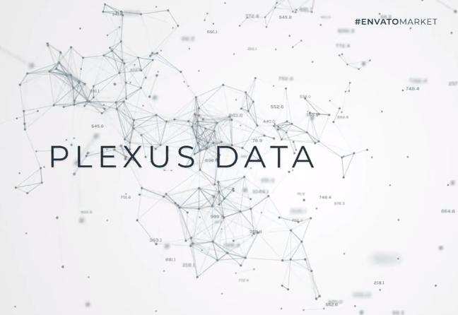 AE模板-抽象漂亮科技风点线连接背景文字标题片头 Data Flow Plexus Titles