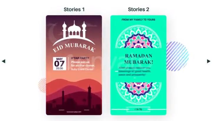 AE模板-阿拉伯元素手机端视频包Ramadan Instagram Stories