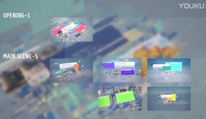 AE模板-漂亮真实三维场景商务企业图文介绍展示动画包装 Economic Presentation