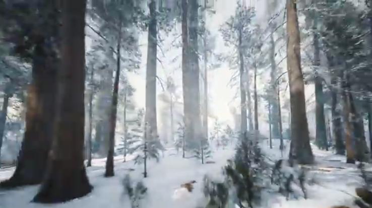 AE模板-雪森林logo标志展示 Winter is coming