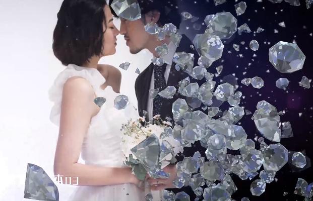 AE模板-钻石水晶优雅颁奖背景视频婚礼相册