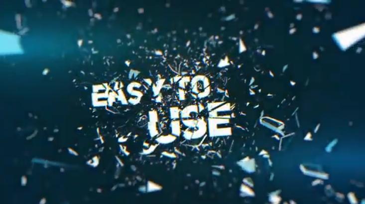 AE模板-碎玻璃转场效果文字宣传片头Shatter Glass Trailer