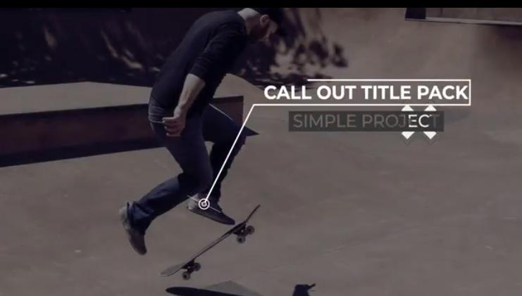 AE模板-故障抖动呼出线文字动画 Glitch Call Outs