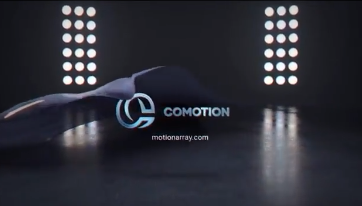 AE模板-汽车形状幕布掀开logo标志演绎 Car Logo