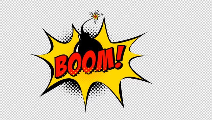AE模板-卡通爆炸砰飞溅手绘漫画泡泡视频字幕动画电视节目包装素材