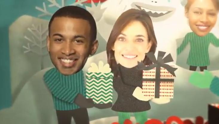 AE模板-大头照贺卡节日片头 Holiday Faces Pop Up Card