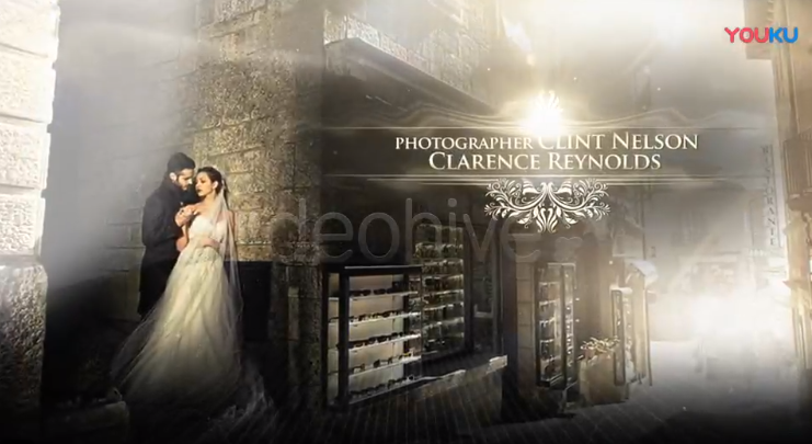AE模板-高雅奢华婚礼包装片头