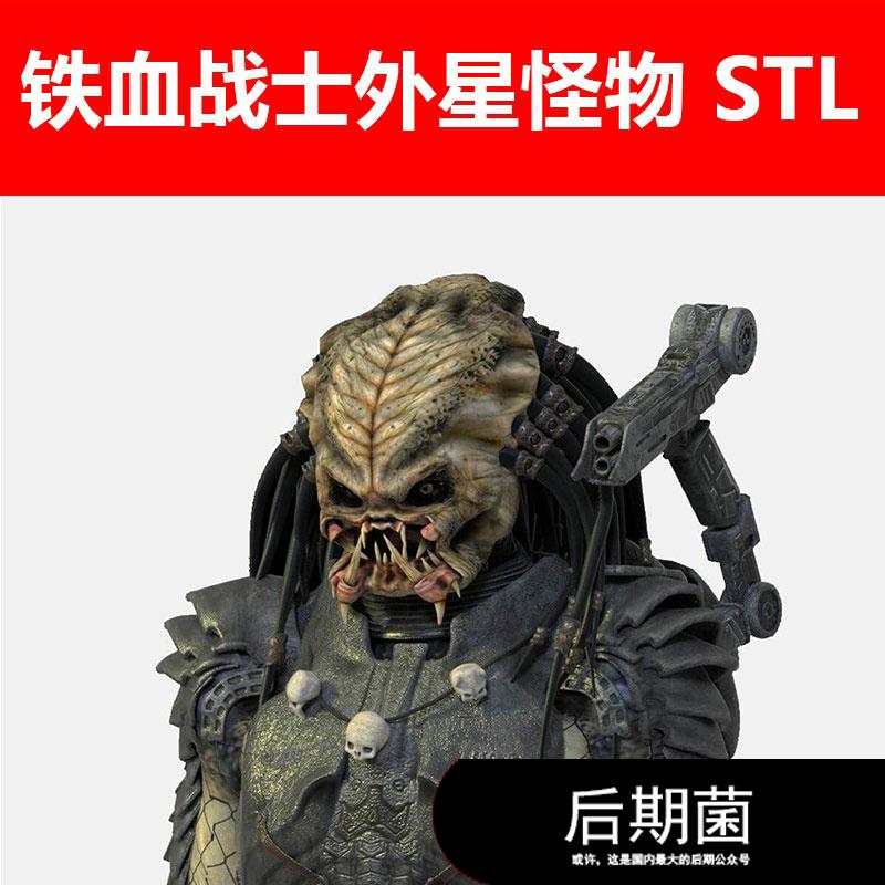 STL 宇宙航天外太空外星人物铁血战士怪物妖怪角色模型三维