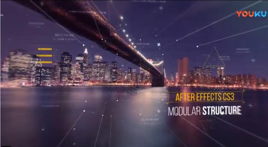 AE模板-科技感视差图片开场