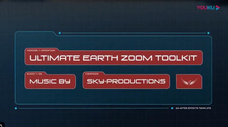 AE模版-超酷太空俯冲地球位置定点动画展示工具包(含破解脚本) v3.6