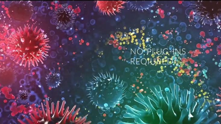 AE模板-3D病毒细胞新型冠状病毒治疗医学研究标题科学教育视频开场