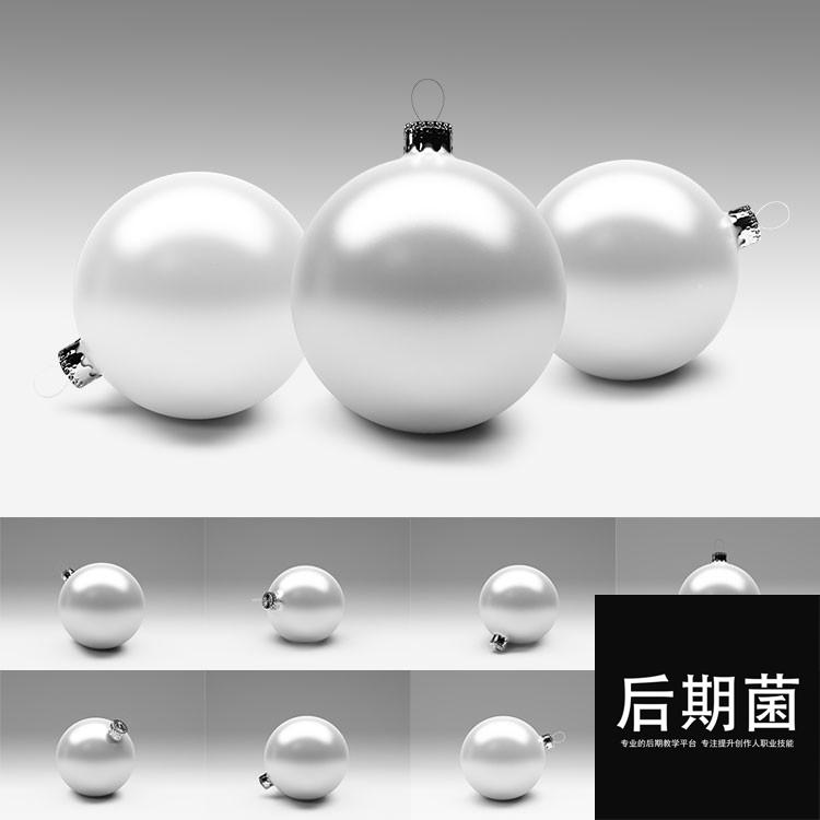 圣诞节圣诞树装饰球挂饰贴图效果展示VI样机PSD模板设计素材