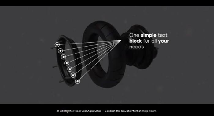 AE模板 -多目标点科技感细节介绍线条呼叫指示线动画