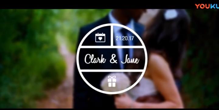 AE模板-浪漫婚礼主题新人名字文字标题动画