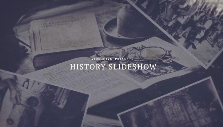 AE模板-极简风笔刷效果战争电影历史回忆记录片史诗怀旧视频相册