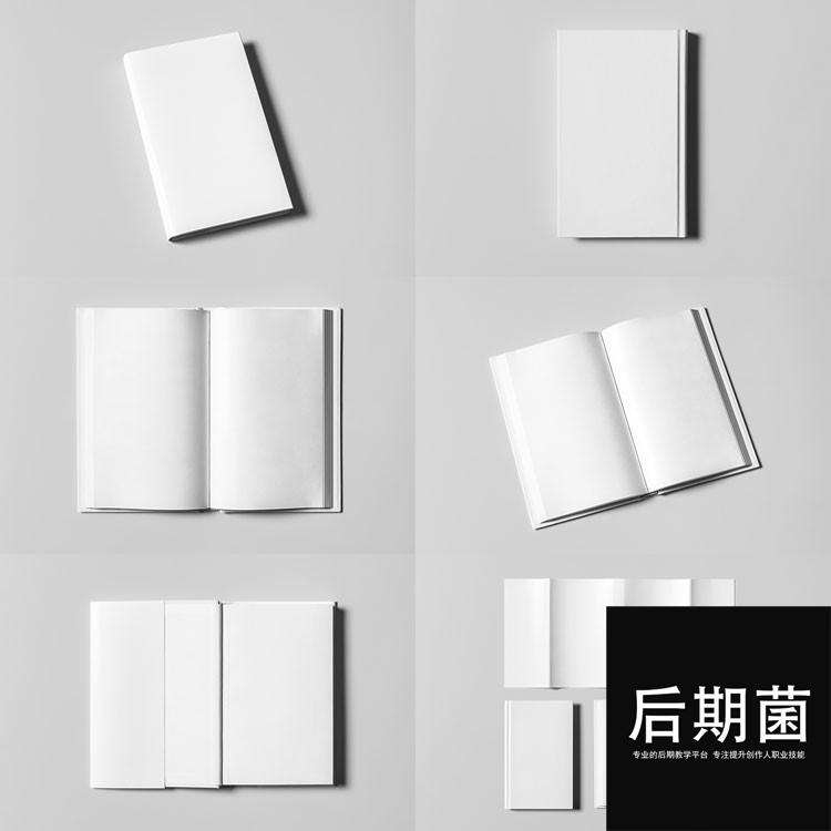 书籍装帧杂志书画册品牌手册VI样机展示模型设计PSD模板素材