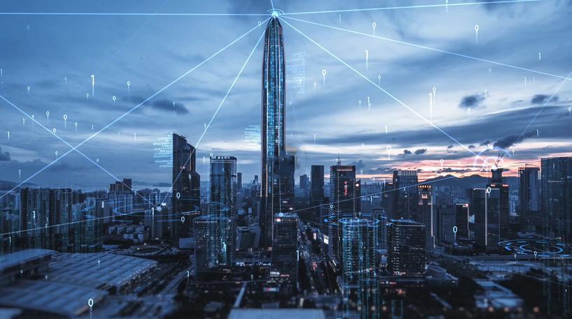 AE模板-大气互联网连线科技城市