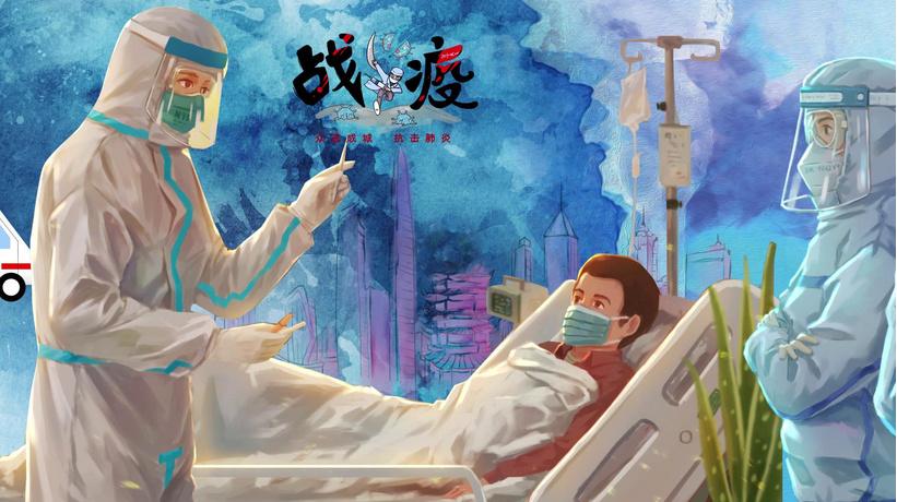 AE模板-抗击疫情重要瞬间回顾片头动画