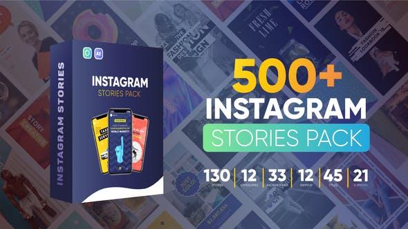 AE模版-500个竖版广告宣传介绍封面设计动画