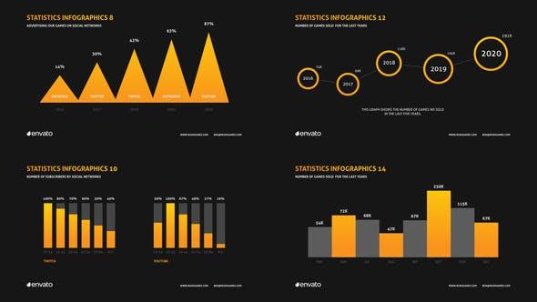 AE模版-商务企业公司信息数据统计图文报表展示