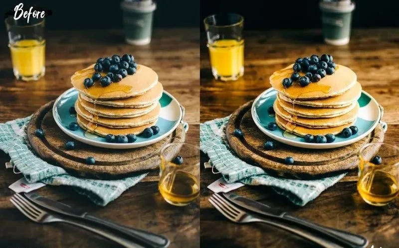 美味美食食品摄影预设  精选5款高级效果
