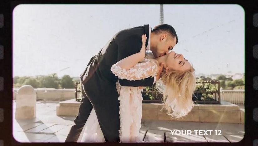 Premiere模板-婚礼电影胶卷特效美好回忆幻灯片模板