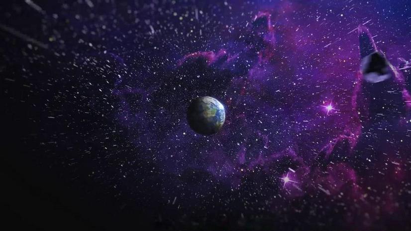 Premiere模板-太空地球放大演绎LOGO展示动画片头模板