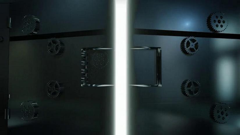 Premiere模板-3D金属门打开电影片头开场LOGO展示模板