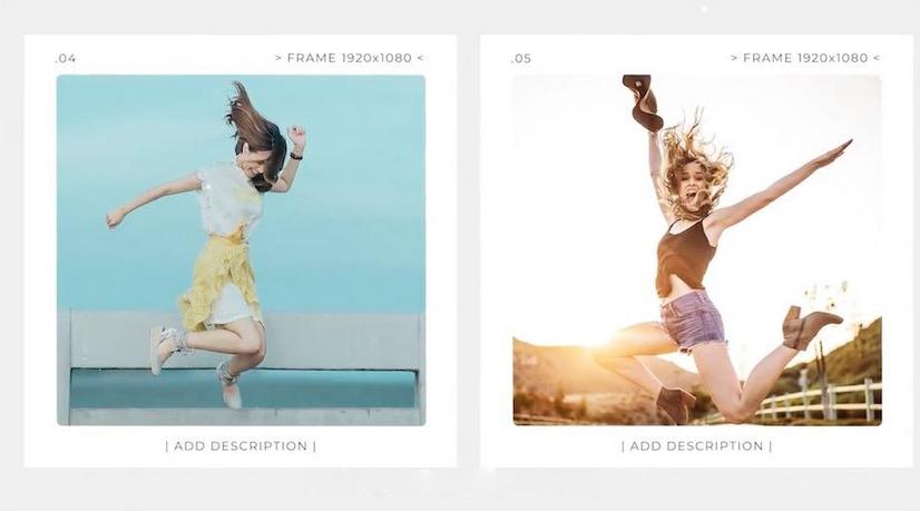 Premiere模板-一款非常简约大气全新的照片展示相片幻灯片模板