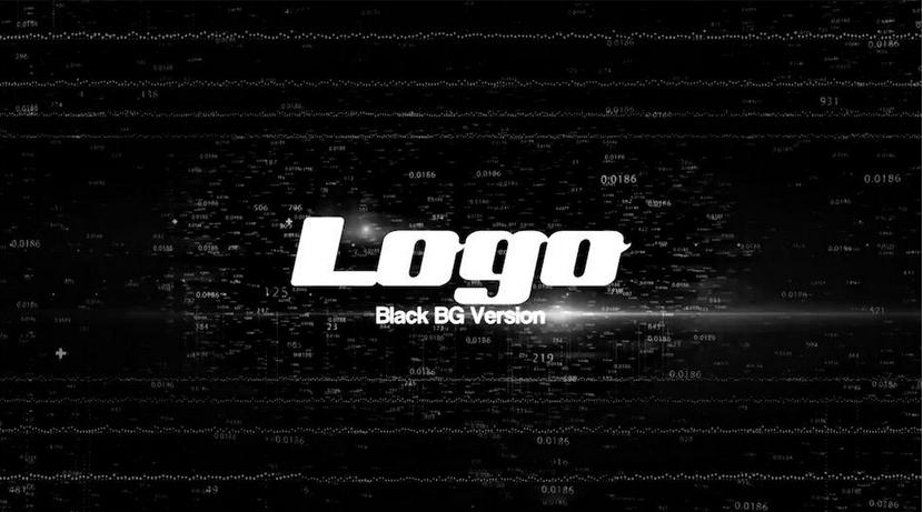 Premiere模板-数字数据显示高科技片头LOGO展示模板