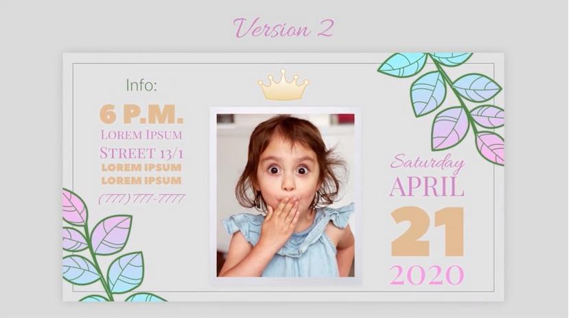 Premiere模板-亲子宝贝生日诞辰照片纪念视频幻灯片模板
