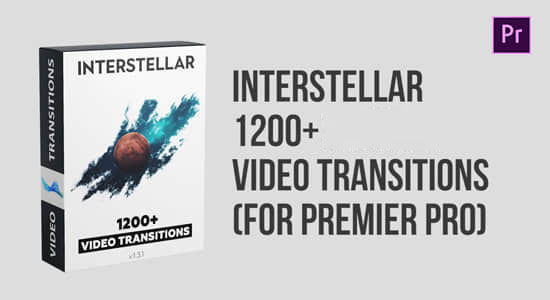 Premiere模板-1200种缩放扭曲移动旋转故障切割RGB色彩分离拉伸翻转视频转场