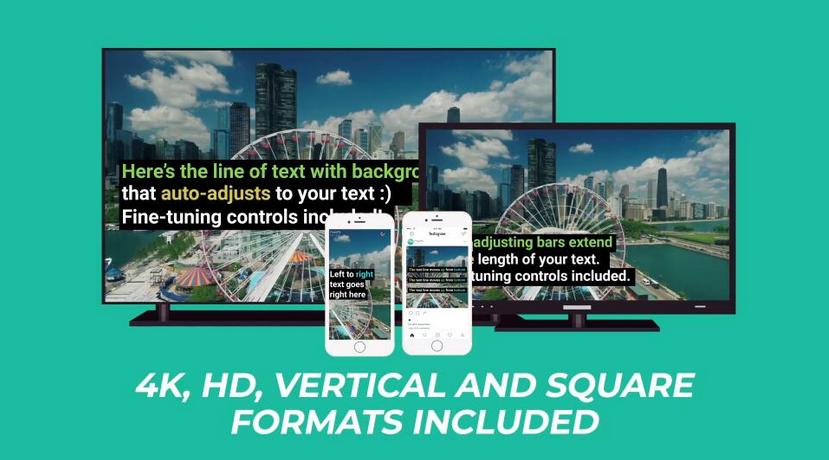 Premiere模板-简约大气字幕动画社交媒体动态图形模板