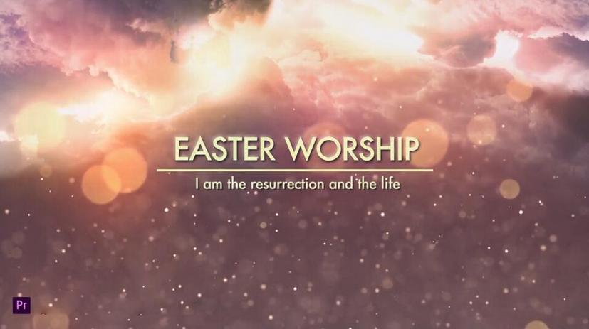 Premiere模板-耶稣受难日祈祷宗教信仰礼拜堂教会视频等模板