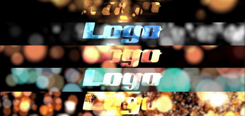 Premiere模板-华丽光斑效果发光粒子特效片头LOGO展示模板