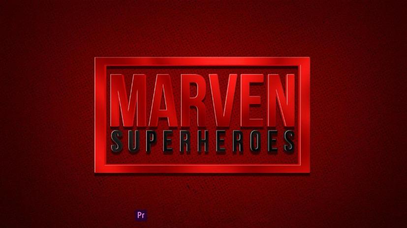 Premiere模板-漫威电影特效复仇者联盟超级英雄开场片头模板
