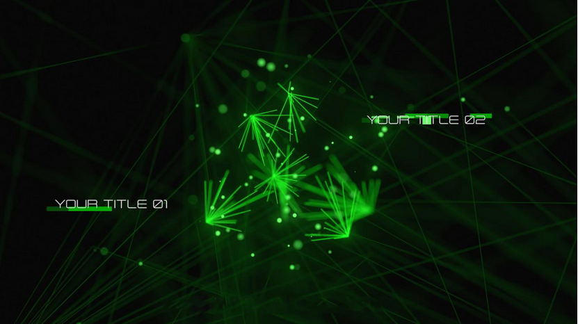 Premiere模板-网络安全技术宣传高端大气绿色风格高科技宣传预告片文字动画模板