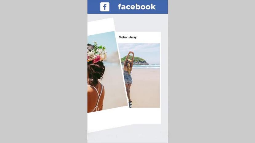 Premiere模板-一个Facebook社交媒体账号作品展示宣传模板