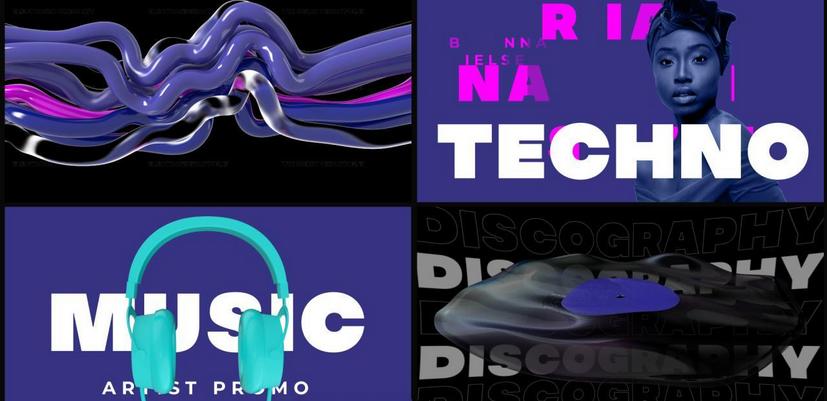 Premiere模板-音乐人音乐创作者宣传视频新歌发布预告模板