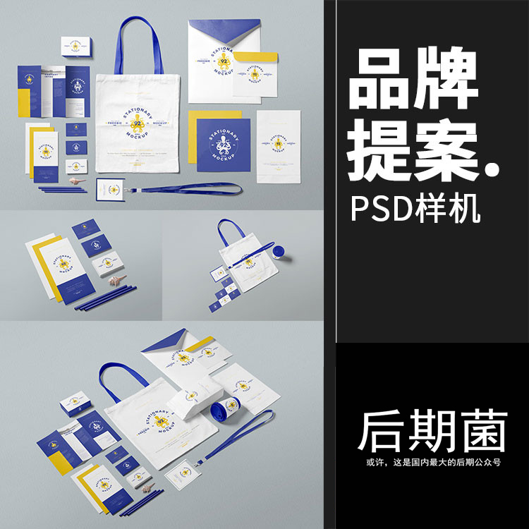 品牌周边办公VI提案整套展示文创样机效果图设计PSD智能贴图素材