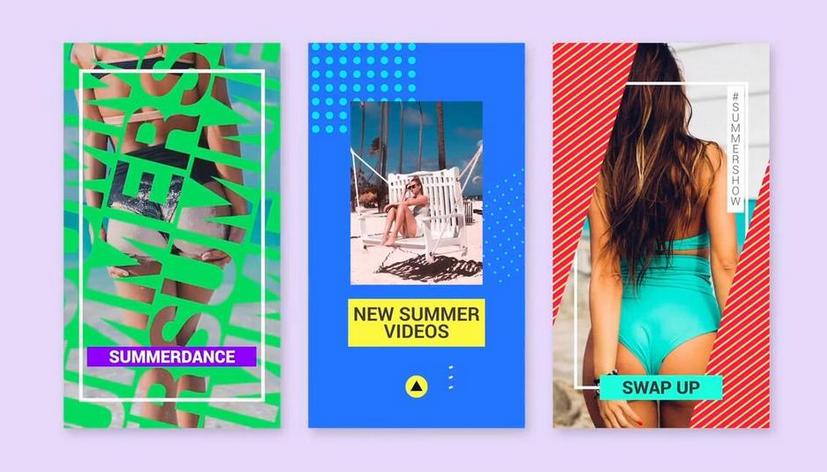Premiere模板-电商微商产品夏季活动促销宣传推广主图模板