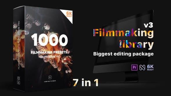 Premiere预设-1000种文字标题转场片头调色视觉特效包