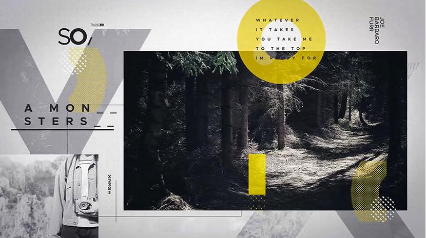 Premiere模板-现代创意设计美观的图文展示幻灯片模板