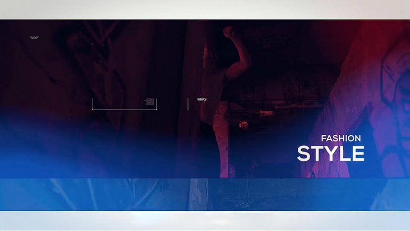 Premiere模板-时尚街拍Vlog运动光效闪烁视频制作模板
