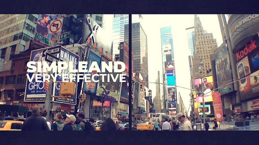 Premiere模板-大片既视感分屏创意城市印象宣传片模板