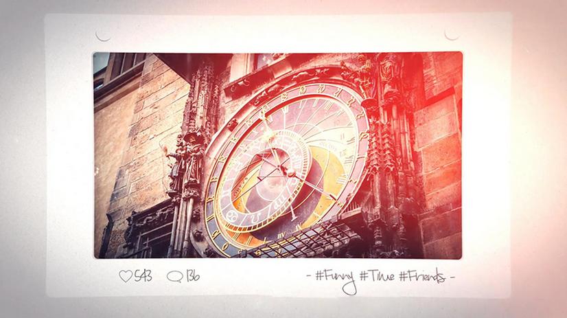 Premiere模板-一个非常简洁漂亮的照片展示幻灯片模板