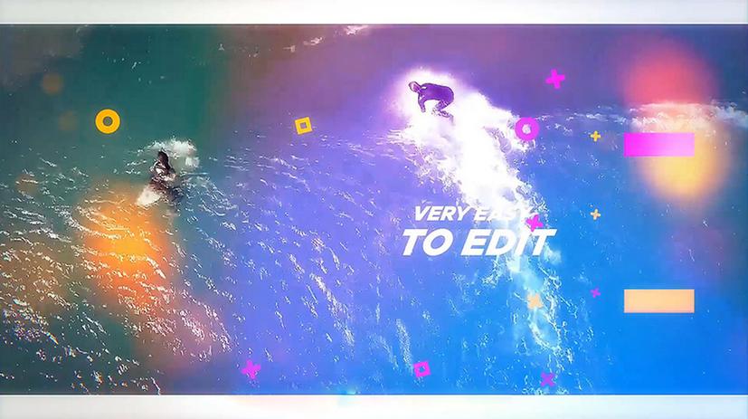 Premiere模板-记录美好旅行生活Vlog创意多彩短视频模板