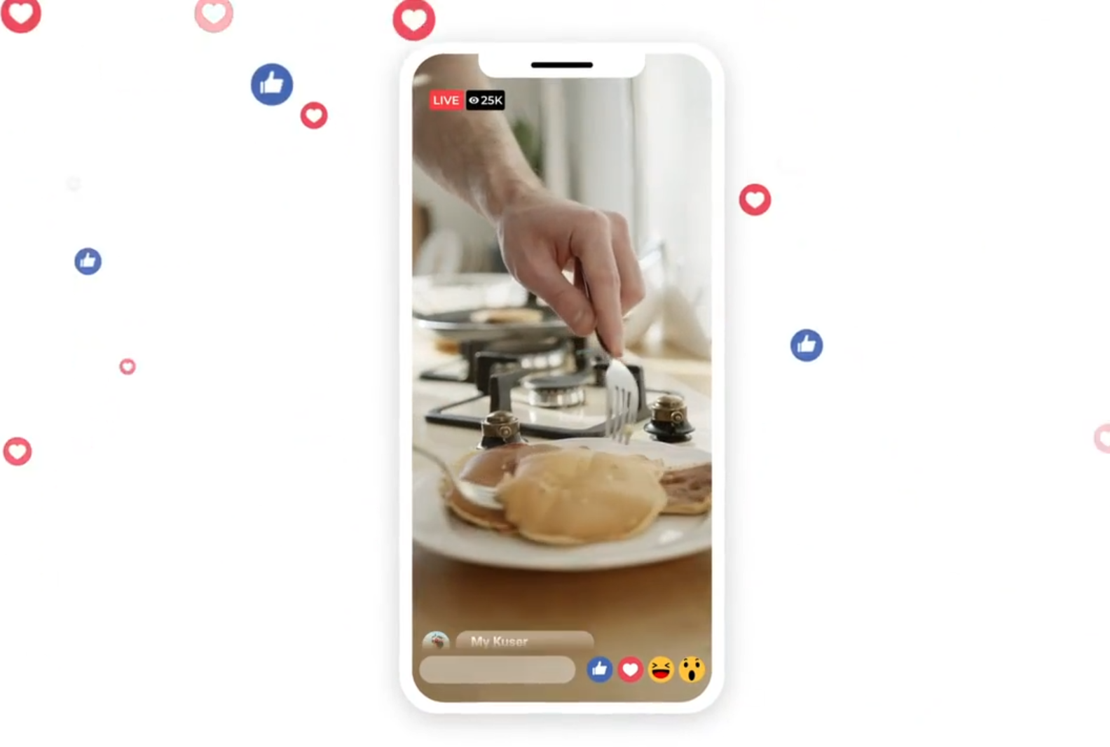Premiere模板-脸书Facebook直播点赞视频包装作品宣传视频模板